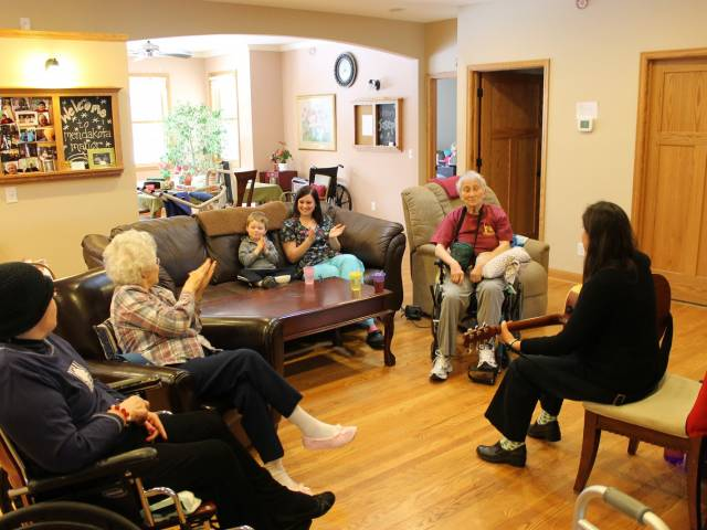 Music Therapy Session at Heart to Home