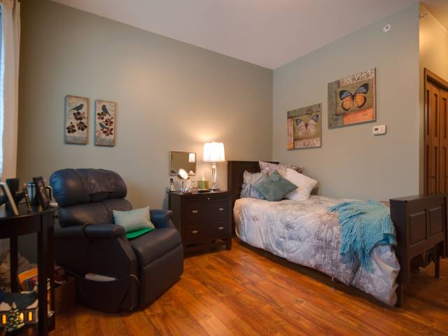 Each client has his / her own bedroom.  Use our furniture, or your own!