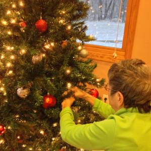 Christmas Tree Decorating at Heart to Home