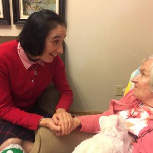 Dr. Gianna Emanuella Molla visiting with residents